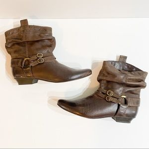 Aldo Brown ankle booties size 9.5 booties
